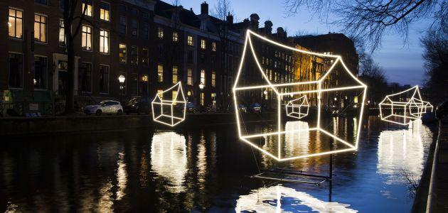 Dagaanbieding: 2 dagen naar het Amsterdam Light Festival incl. overnachting en 75 min. durende rondvaart